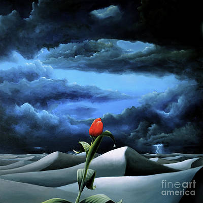 Painting - A Dream Of Rain Among A Sea Of Silence by Ric Nagualero
