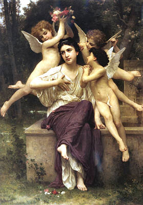 The Champagne Collection - A Dream of Spring by William Bouguereau