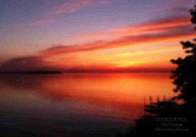 Digital Art - A Dreamy Sunset On The Midwestern Riviera by Perry Andropolis