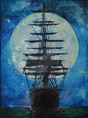 Ghost Ship Painting - The Dancer by Leah Delano