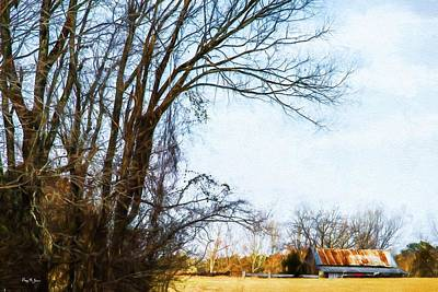 Farm - Barn - A Drive In The Country Art Print by Barry Jones