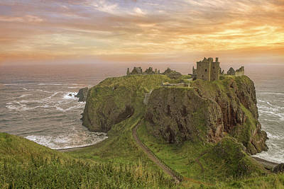 Photograph - A Dunnottar Castle Sunrise - Scotland - Landscape by Jason Politte