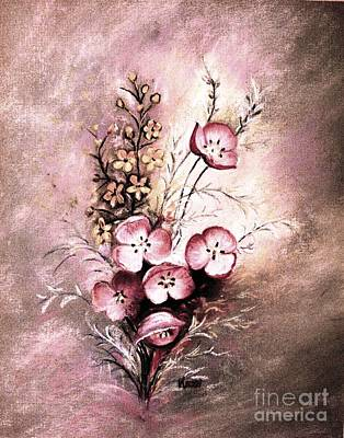 Painting - A Dusty Rose Bouquet by Hazel Holland