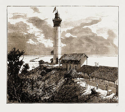 Lighthouse Drawing - A Dutch East India Lighthouse, Java, Indonesia by Litz Collection