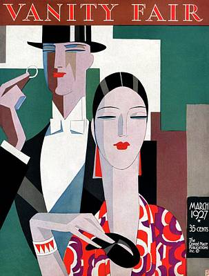 A Elegant Couple Art Print by Eduardo Garcia Benito