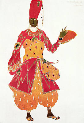 A Eunuch, From The Ballet Scheherazade, By Rimsky-korsakov, Design For Ballet Costume Art Print