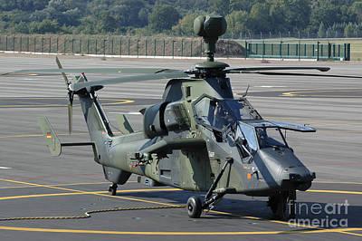 Animals Photos - A Eurocopter Tiger Attack Helicopter by Riccardo Niccoli