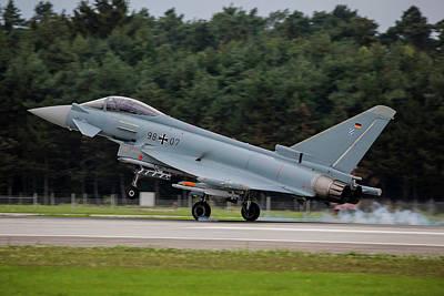 Photograph - A Eurofighter Lands After A Test Flight by Timm Ziegenthaler