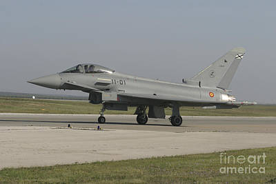 A Eurofighter Typhoon Of The Spanish Art Print by Timm Ziegenthaler