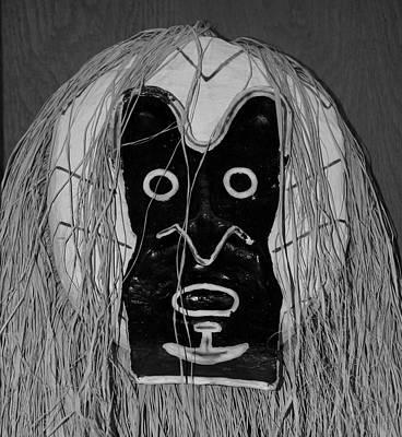 Popular Rustic Neutral Tones - A F Mask B W by Rob Hans
