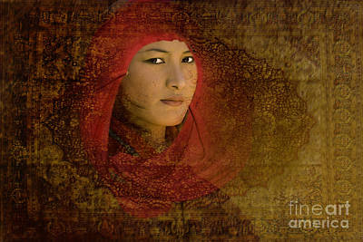 Digital Art - A Face From Bhutan by Angelika Drake