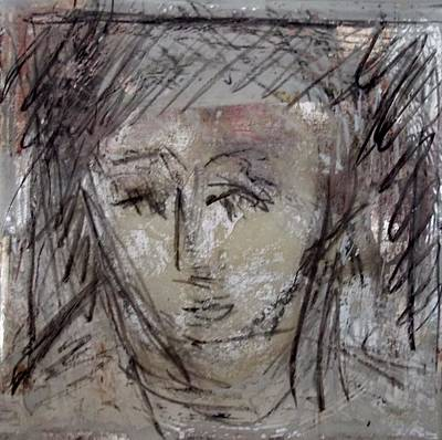 Glass Glass Art - A Face I Remember by Debbie Clarke