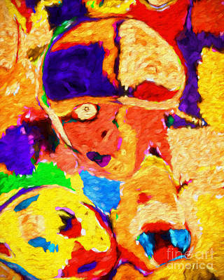 Digital Art - A Face In The Crowd by Andee Design