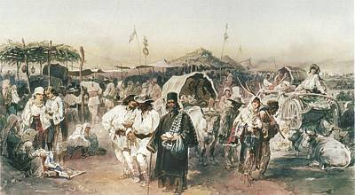 Jerusalem Painting - A Fair In Buzau by Celestial Images