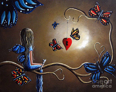 Fantasy Tree Art Painting - A Fairy's Heart Has Many Secrets by Shawna Erback
