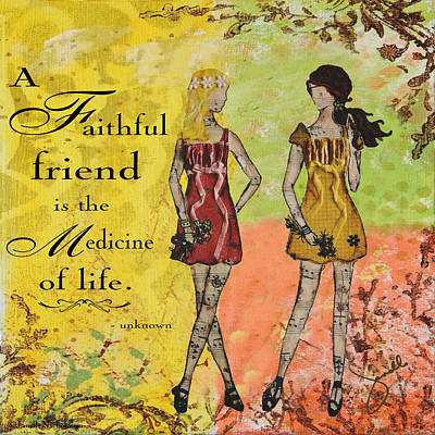 Religious Mixed Media - A Faithful Friend Inspirational Christian Artwork  by Janelle Nichol