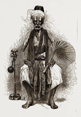 A Fakir, India, 1876 Art Print by Litz Collection