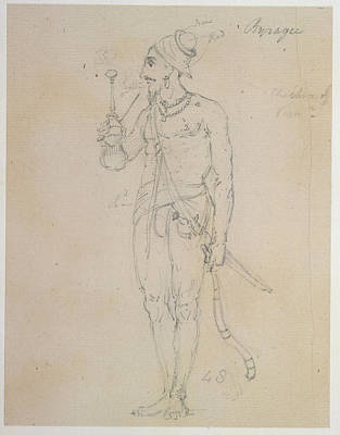 Figure Study Photograph - A Fakir Smoking by British Library