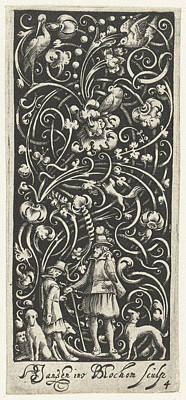 A Falconer Surrounded By Dogs, Bartholomeus Van Lochom Art Print by Bartholomeus Van Lochom And Hans Janssen And Frederik De Wit