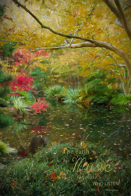 Photograph - A Fall Afternoon With Message by Mary Buck