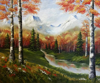 Autumn Landscape Painting - A Fall Day by Edith Hernandez Paintings