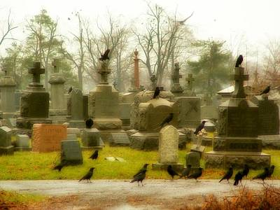 A Fall Gathering Of Crows Art Print