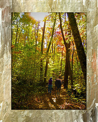Photograph - A Fall Walk With My Best Friend by Sandi OReilly