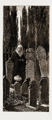 A Family Corner At The Turkish Cemetery At Scutari Art Print