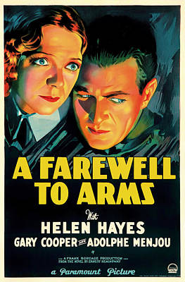Lithograph Mixed Media - A Farewell To Arms Movie Poster 1932 by Mountain Dreams