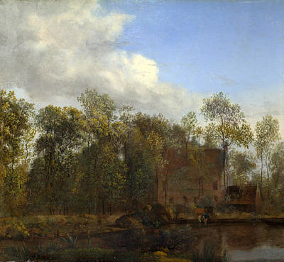 Painting - A Farm Among Trees by Jan van der Heyden