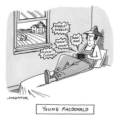 Lazy Drawing - Young Macdonald by Joe Dator