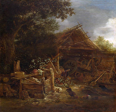 Painting - A Farmyard by Isaac van Ostade