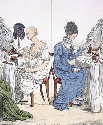 Dressing Painting - A Fashionable Lady, Pub. 1807 88a by Richard Dighton