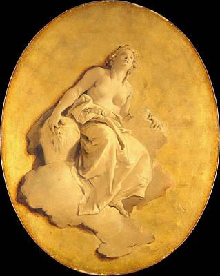 Giovanni Battista Tiepolo Painting - A Female Allegorical Figure by Giovanni Battista Tiepolo