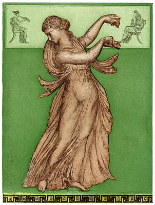 A Female Dancer Performs  Alone Art Print by Mary Evans Picture Library