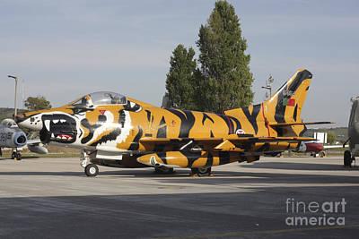 A Fiat G-91 Fighter Plane Print by Timm Ziegenthaler