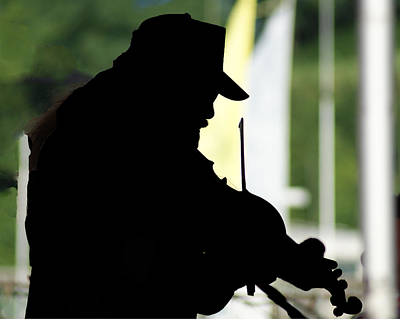 Photograph - A Fiddler's Silhouette by Margie Avellino