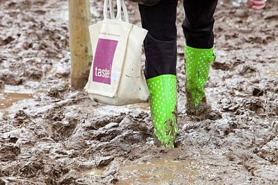 Shopping Bags Photograph - A Field Churned Up Into Mud by Ashley Cooper