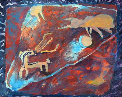 Imitation Painting - A Fight by Natalya Shvetsky