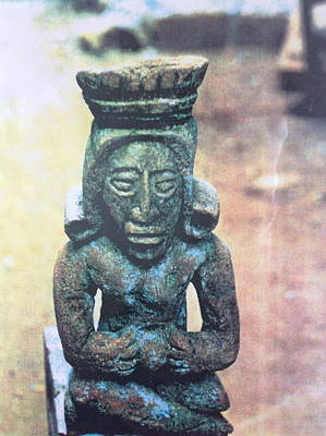 Painting - A Figure Of A Mayan Priestess by Yucatan artist