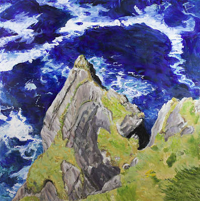 Painting - A Fine Day Out On Skellig Head by Tracy Feldman