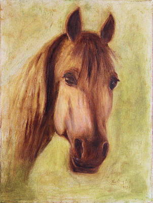 Art Print featuring the painting A Fine Horse by Xueling Zou