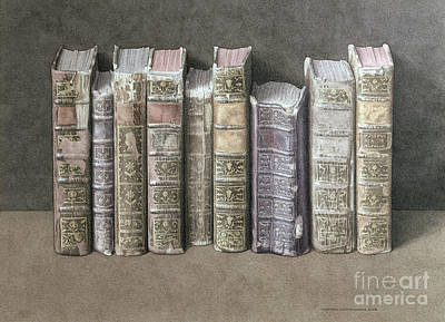 Old Objects Painting - A Fine Library by Jonathan Wolstenholme