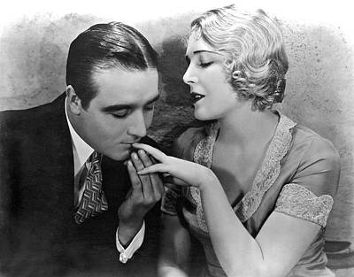 Actor Photograph - A Fingertip Nibble by Underwood Archives