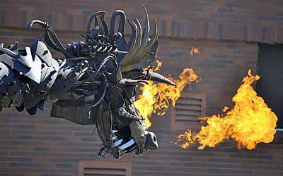 Photograph - A Fire Breathing Dragon by AJ  Schibig