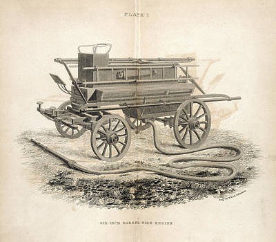 Fire Engine Photograph - A Fire Engine by British Library