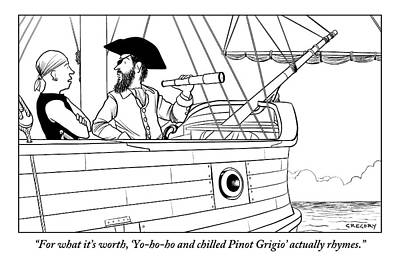 A First Mate Addresses His Pirate Captain Art Print