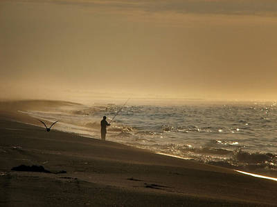 Art Print featuring the photograph A Fisherman's Morning by GJ Blackman