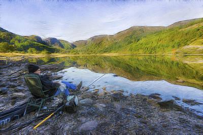A Fishermans Tale Art Print by Ian Mitchell