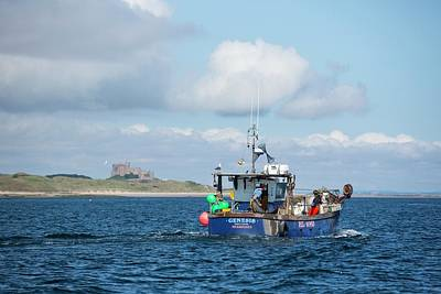 Castle Photograph - A Fishing Boat by Ashley Cooper